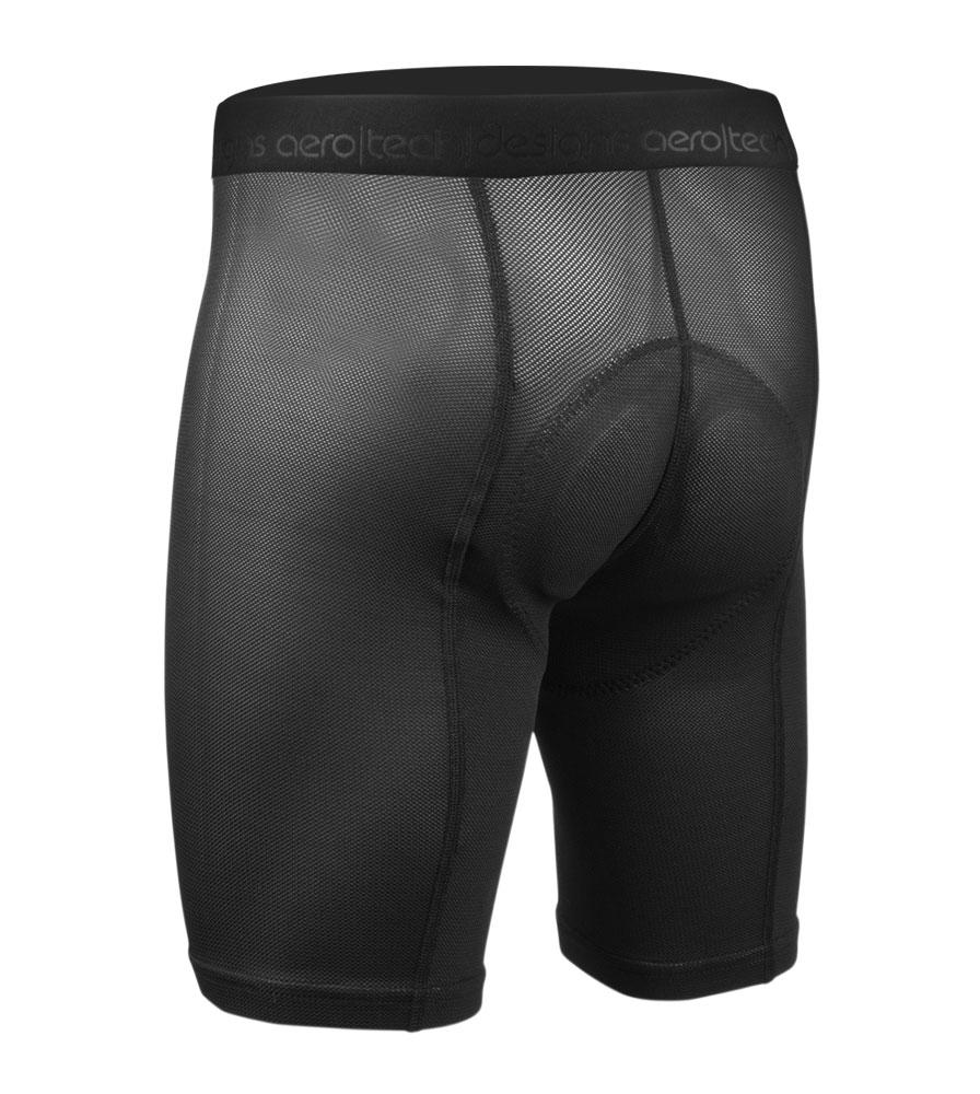 Men's Elite Padded Cycling Liner Short Back View