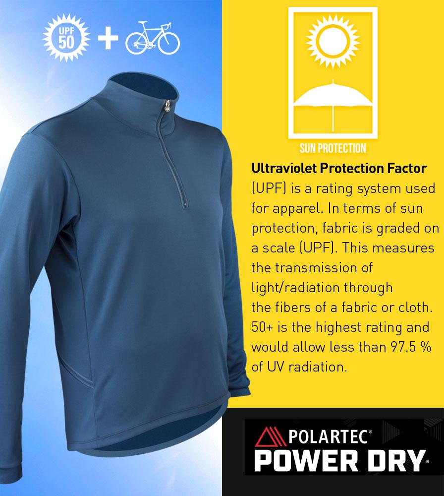 Men's Equator Casual Cycling Jersey UPF Polartec Power Dry Fabric
