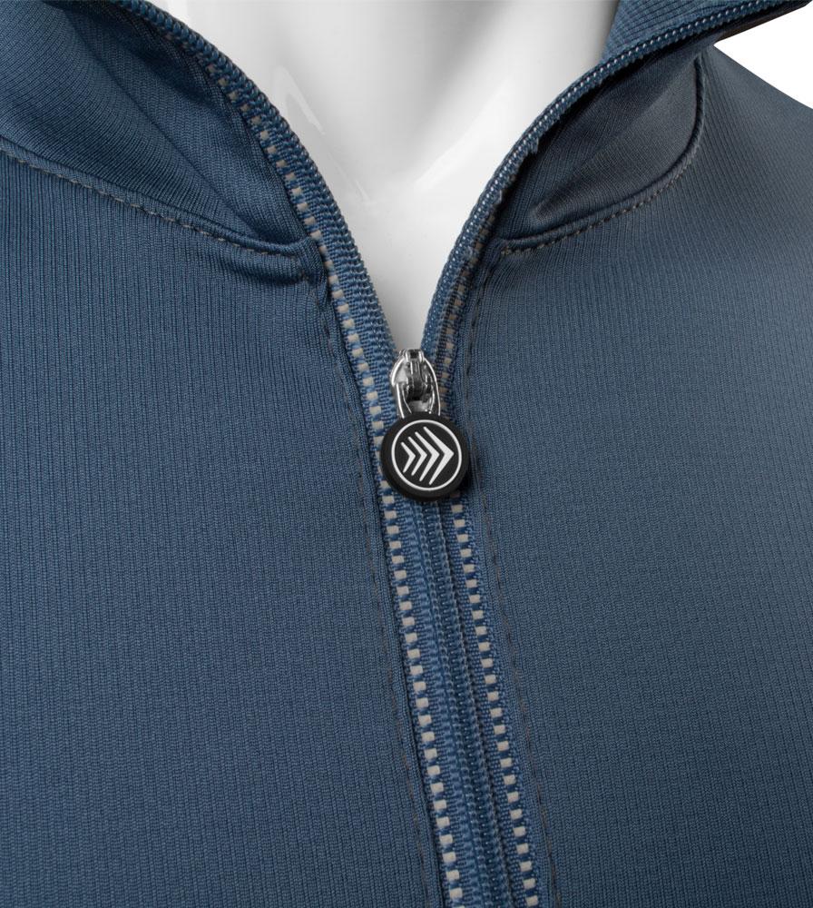 Men's Equator Casual Cycling Jersey Zipper Pull Detail