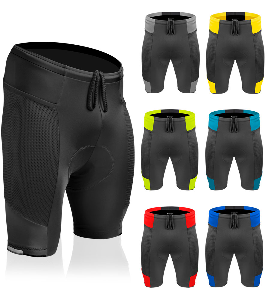 Men's Gel Touring Cycling Shorts Color Options