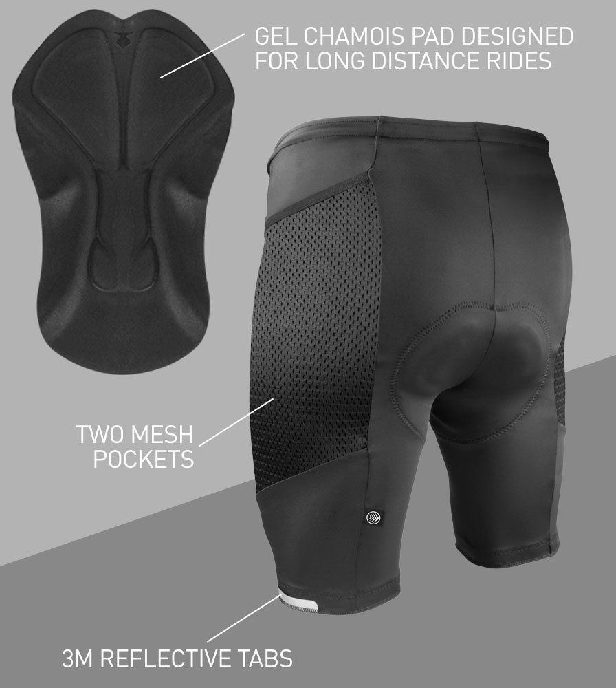 Men's Gel Touring Cycling Short Features