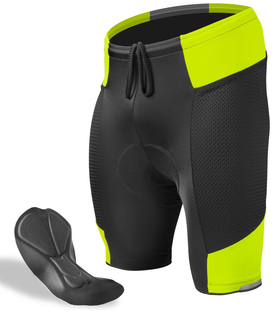 Safety Yellow Men's Gel Touring Shorts