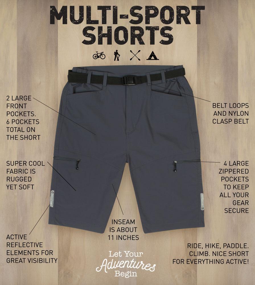 Men's Multi-Sport Short Features