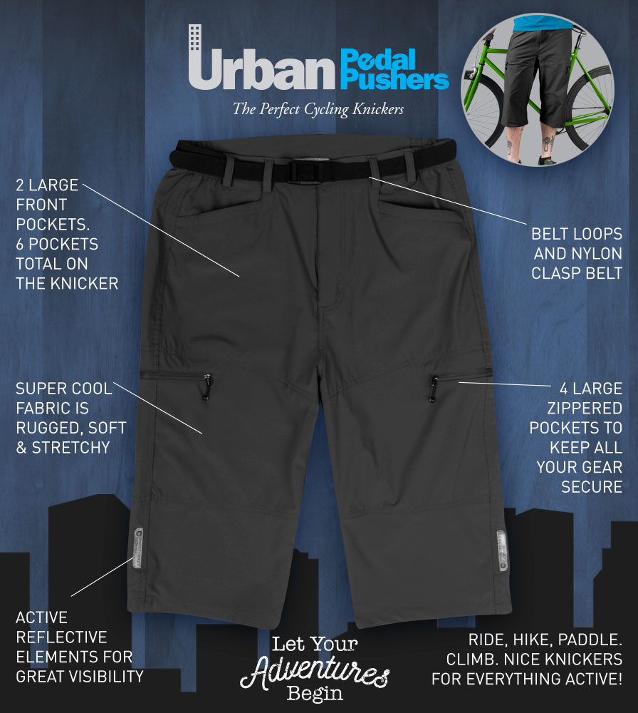 Men's Pedal Pushers Commuting Knicker Features