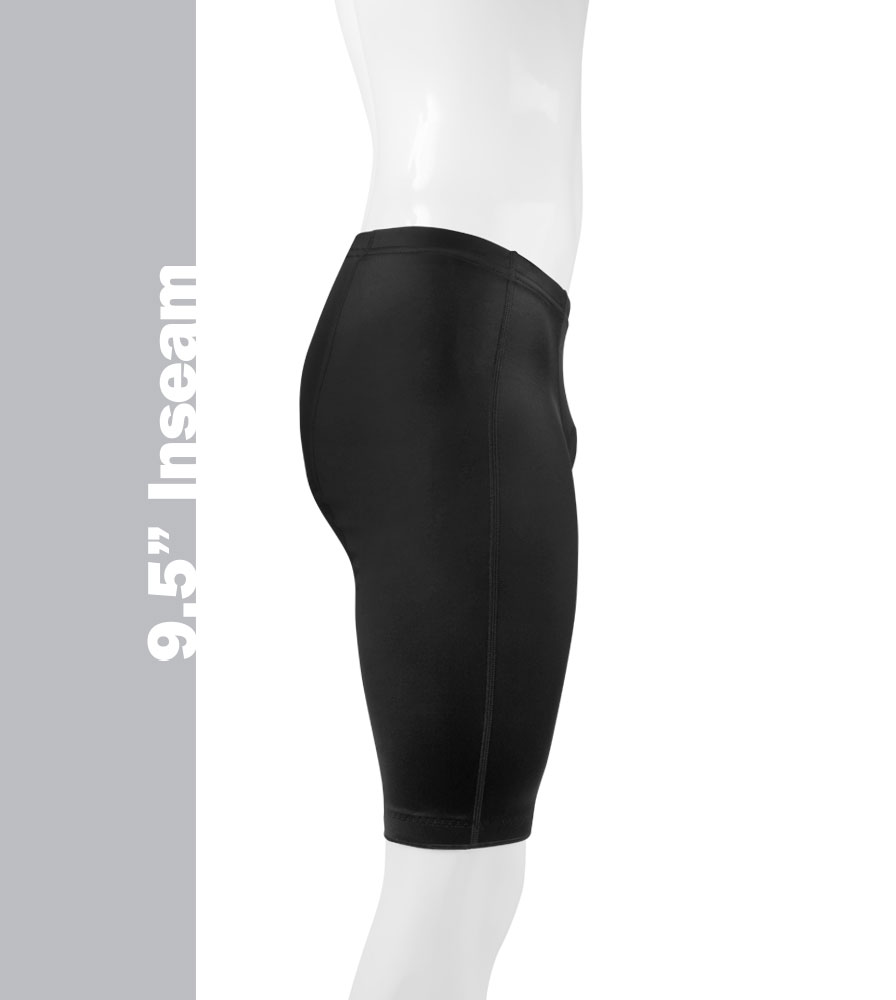 The Men's pro Bike Shorts have an 9.5 Inch Inseam