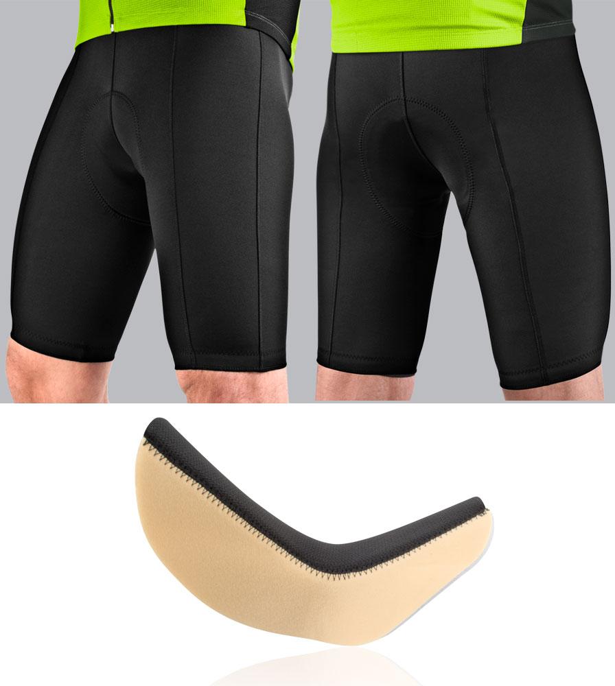 Men's Pro Bike Shorts Modeled with Chamois Pad