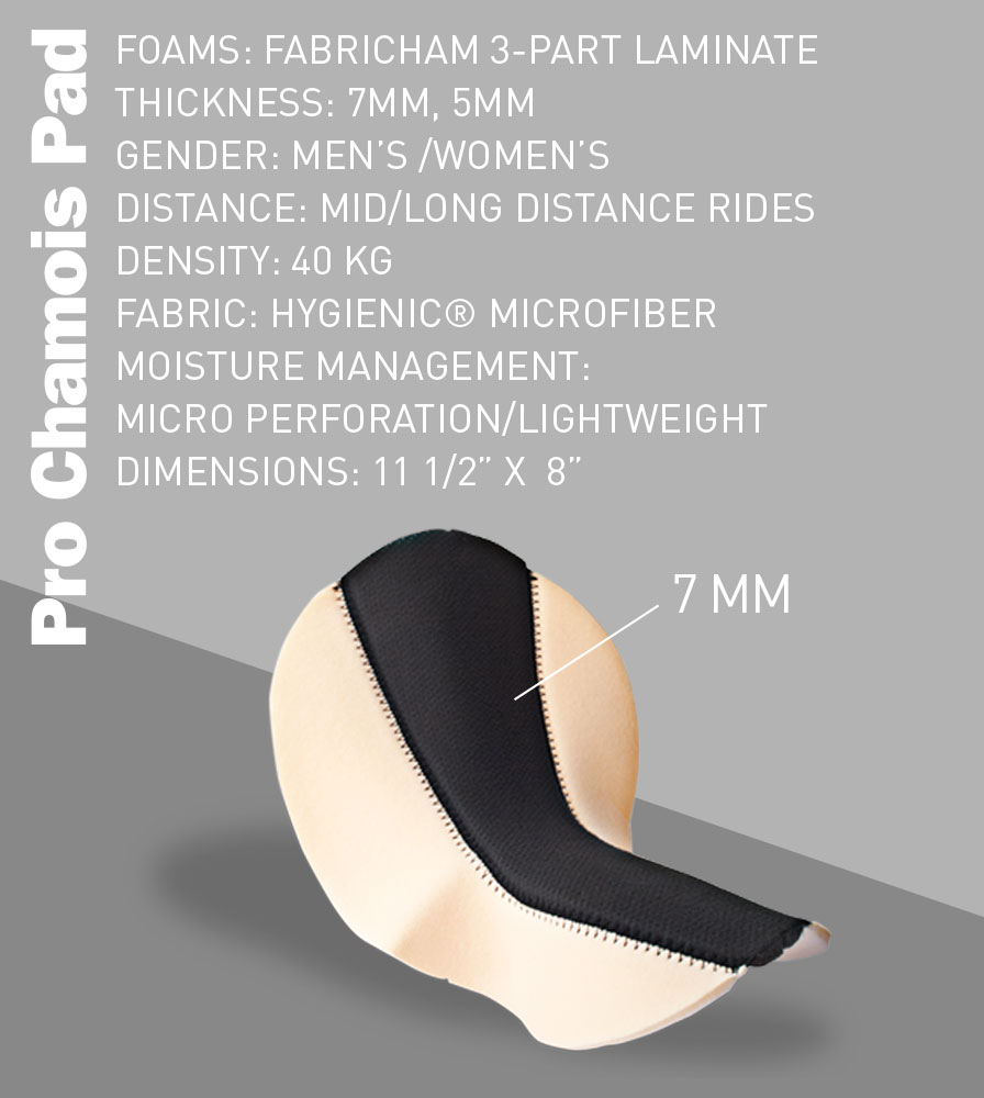 Pro Chamois Pad Features and Specifications