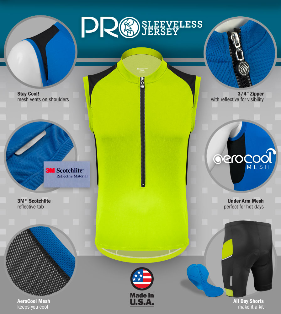 Pro Sleeveless Cycling Jersey Features
