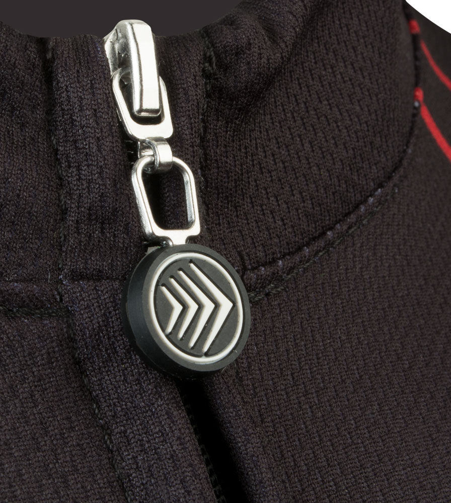 Maryland Cycling Jersey Zipper Pull and Collar Detail
