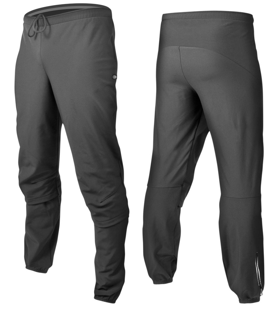 Men's Thermal Wind Proof Cycling Pants Front and Back View