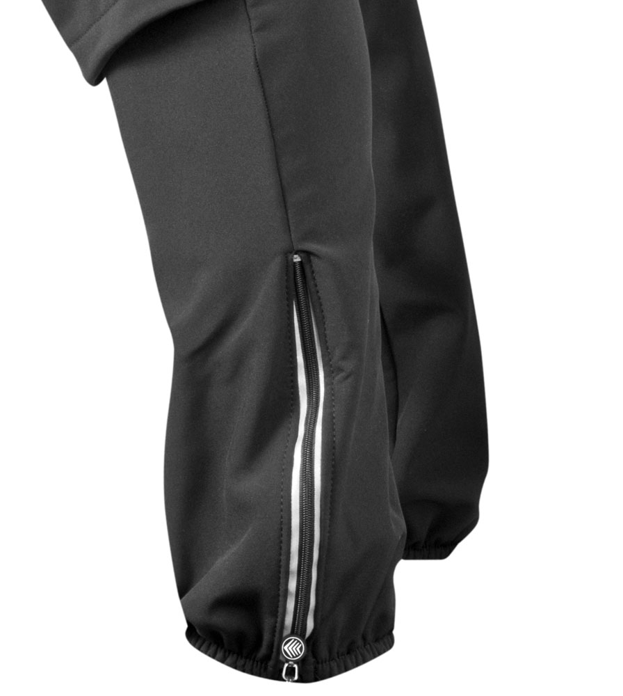 Men's Thermal Wind Proof Cycling Pants Ankle Zippers Full View