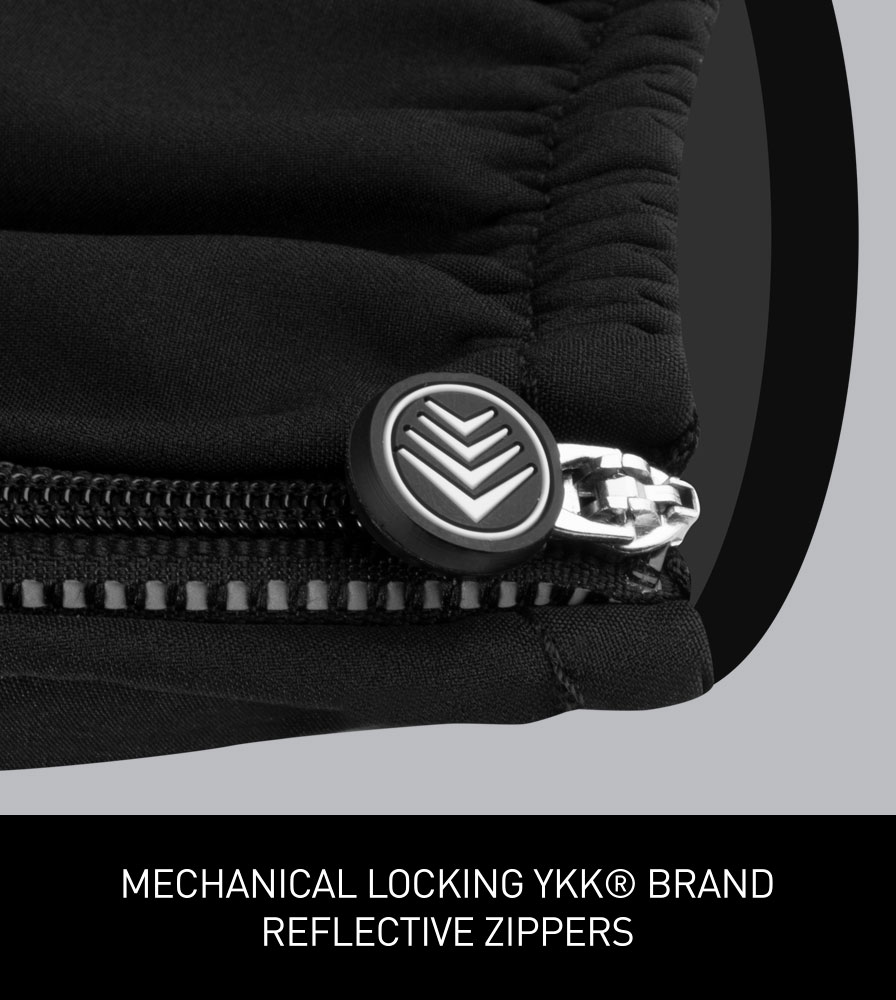 Men's Thermal Wind Proof Cycling Pants Reflective YKK Ankle Zippers