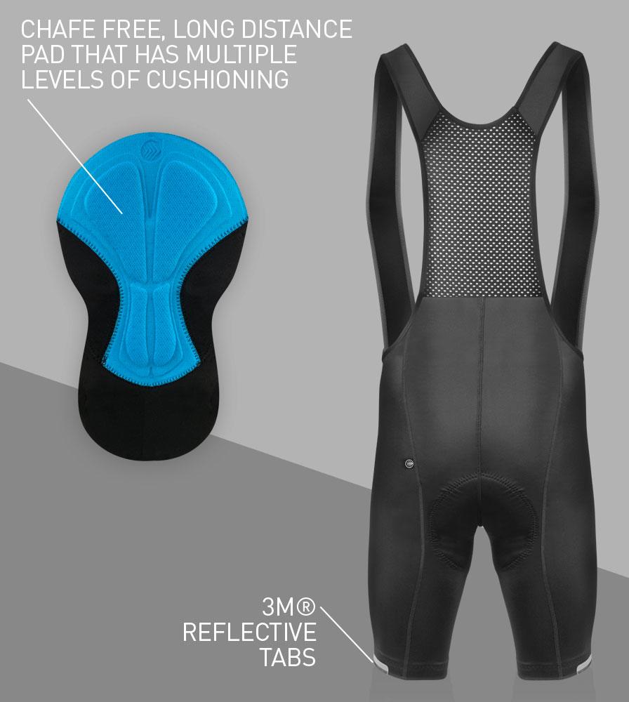 Men's Top Shelf Cycling Bib-Shorts Back Features