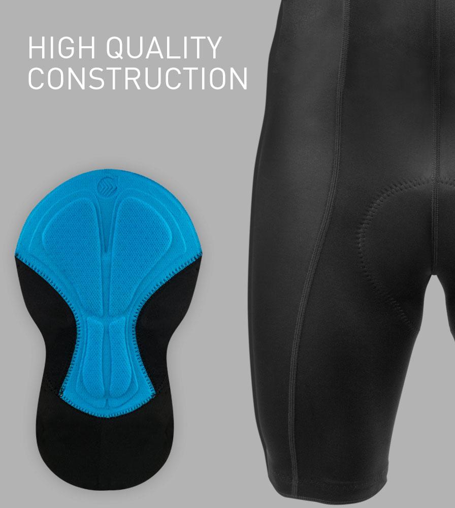 High Quality Construction on the Men's Top Shelf Cycling Bib-Shorts