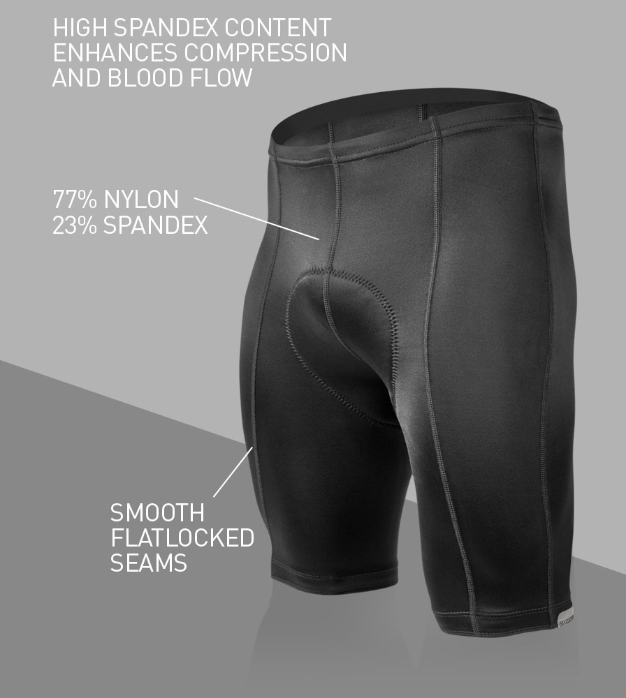 Men's Top Shelf Bike Short Front Features