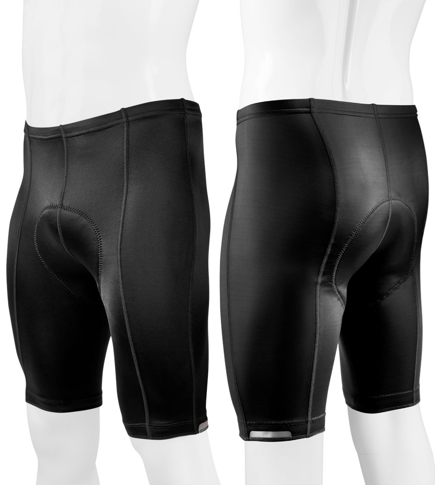 Off Front and Off Back View of the Men's Top Shelf Padded Bike Shorts