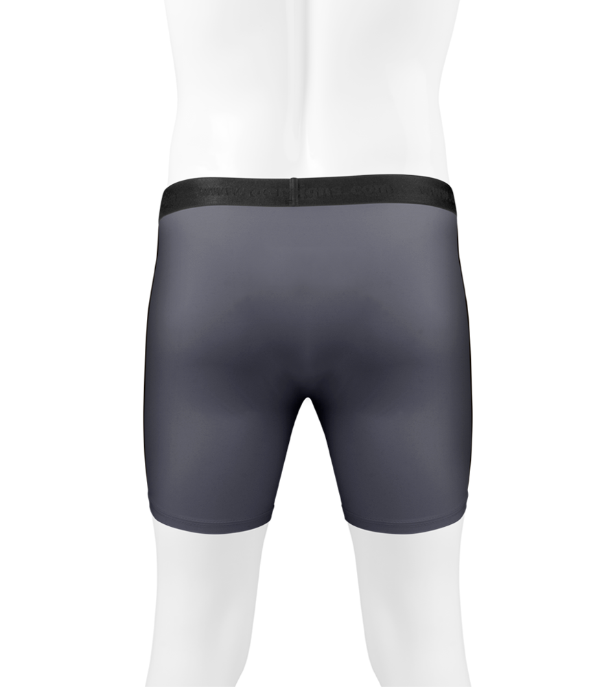 Men's Soft Compression Underwear in Charcoal Back View