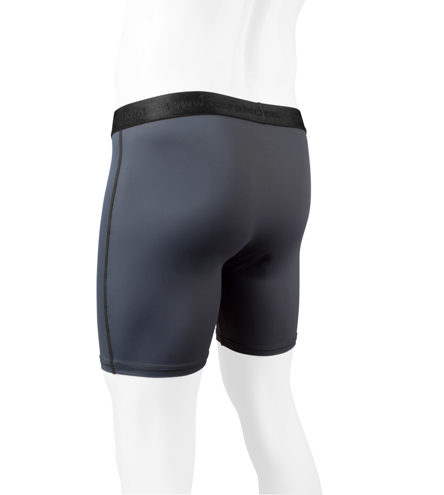 Men's High Performance Underwear in Charcoal Off Back View