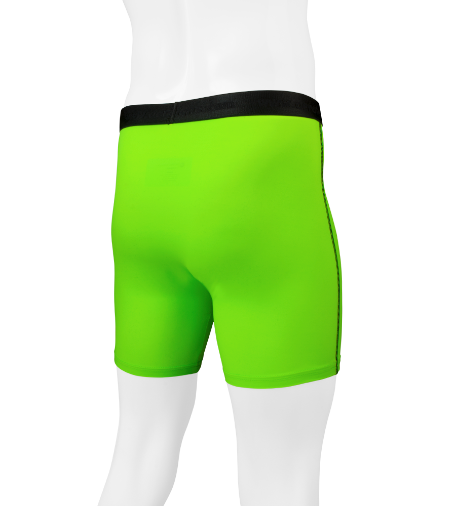 Men's High Performance Underwear in Green Off Back View