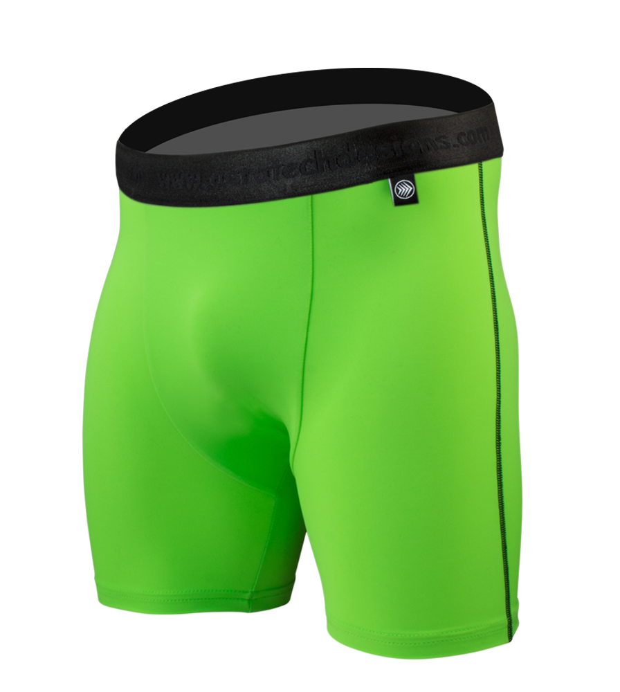 Men's High Performance Underwear in Green Off Front View