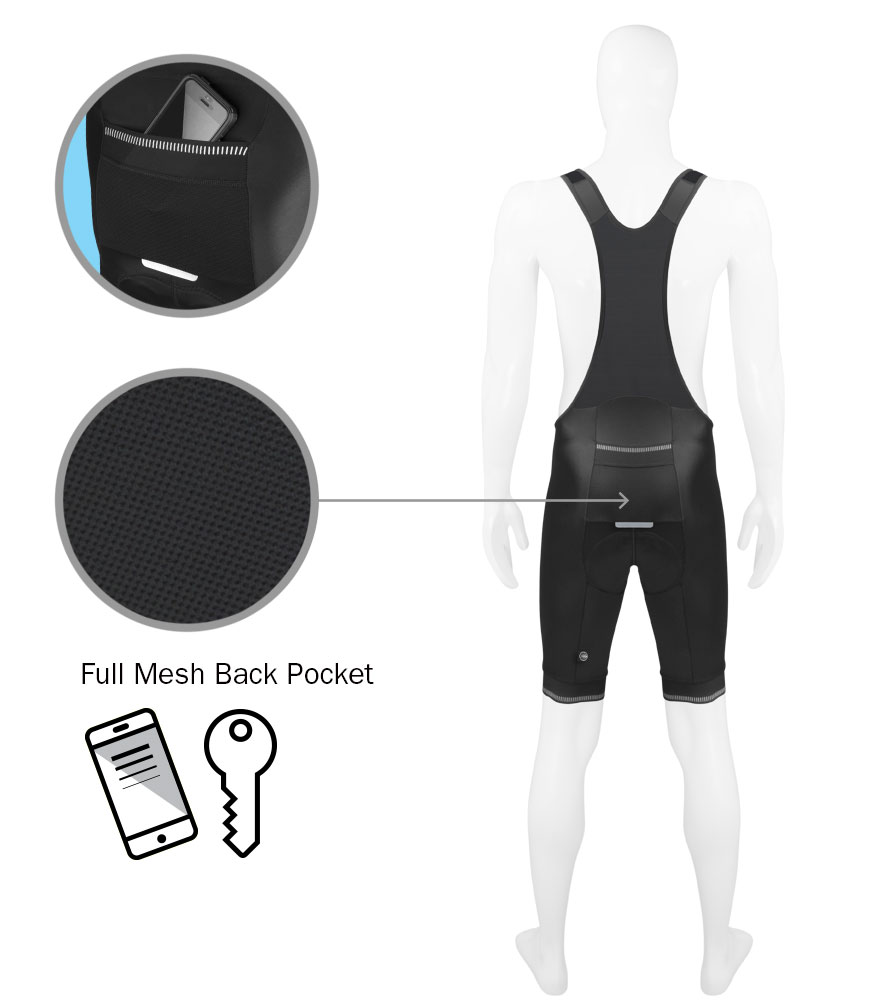 Men's Voyager Bib-Short Pocket Informational Panel