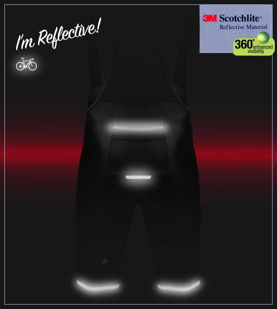 Men's Voyager Bib Short Reflective Elements
