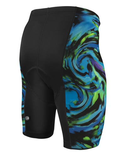 mens print bike short