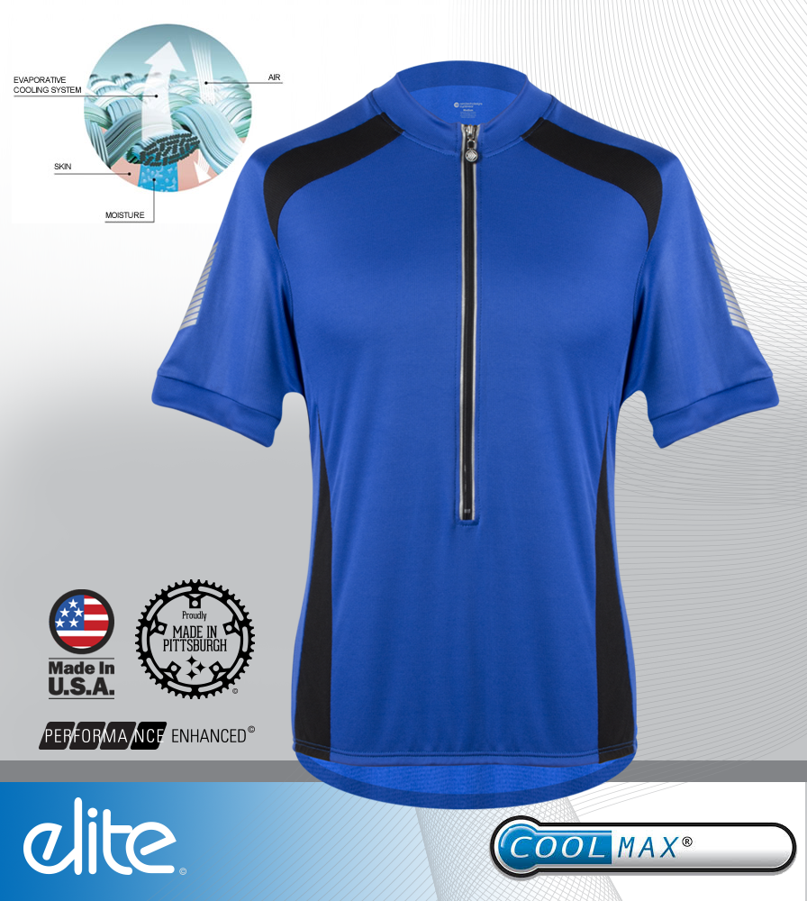 Men's Elite Coolmax Jersey Fabric