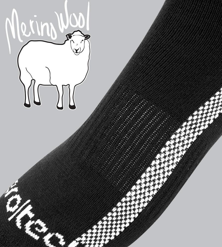 Merino Wool Cycling Sock Detail