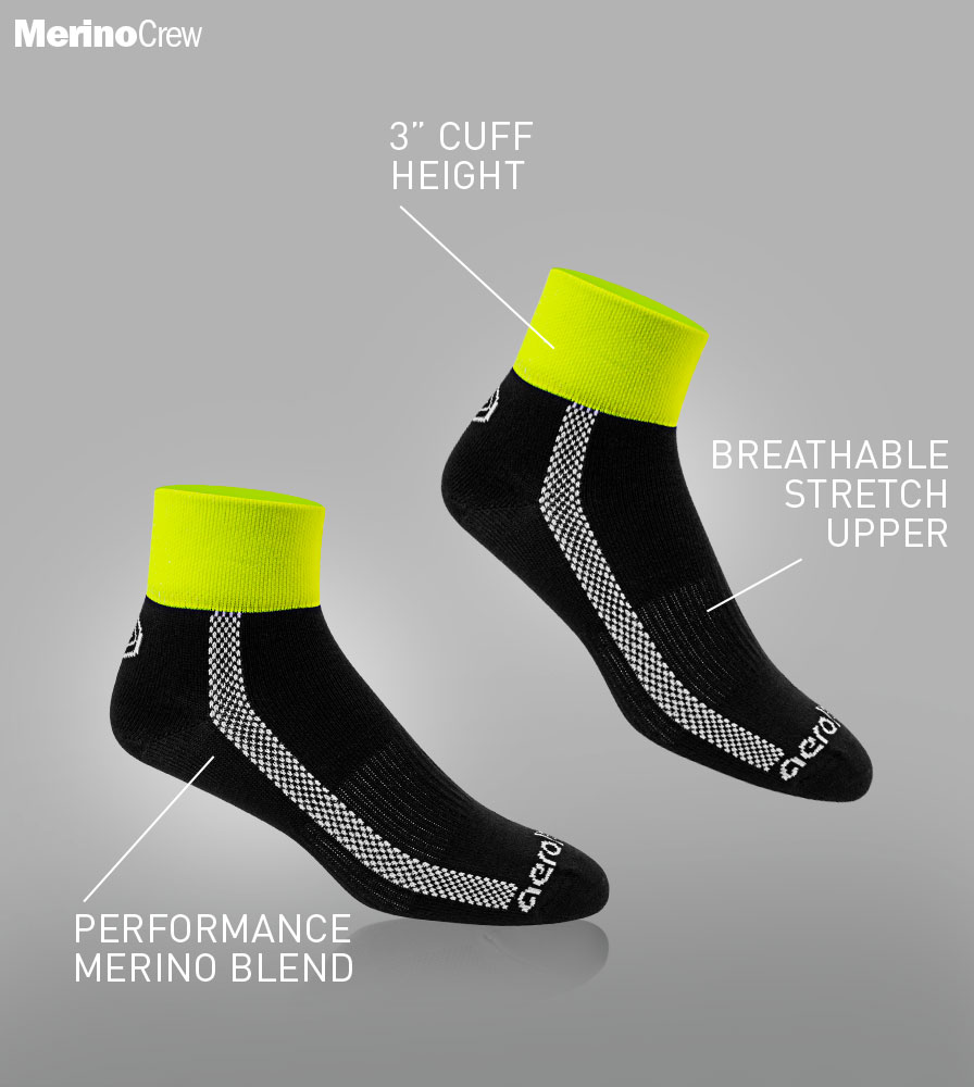 Merino Wool Cycling Sock Features