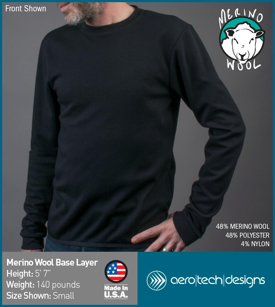 Merino Wool Base Layer Modeled