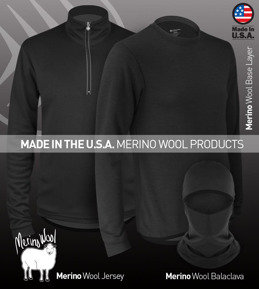 Merino Wool Products from Aero Tech Designs
