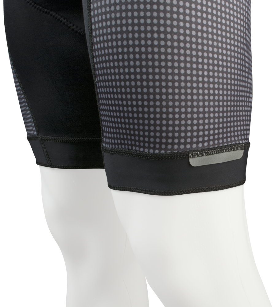 Modern Premiere Bib-Short Leg Gripper and Reflective Tab Detail