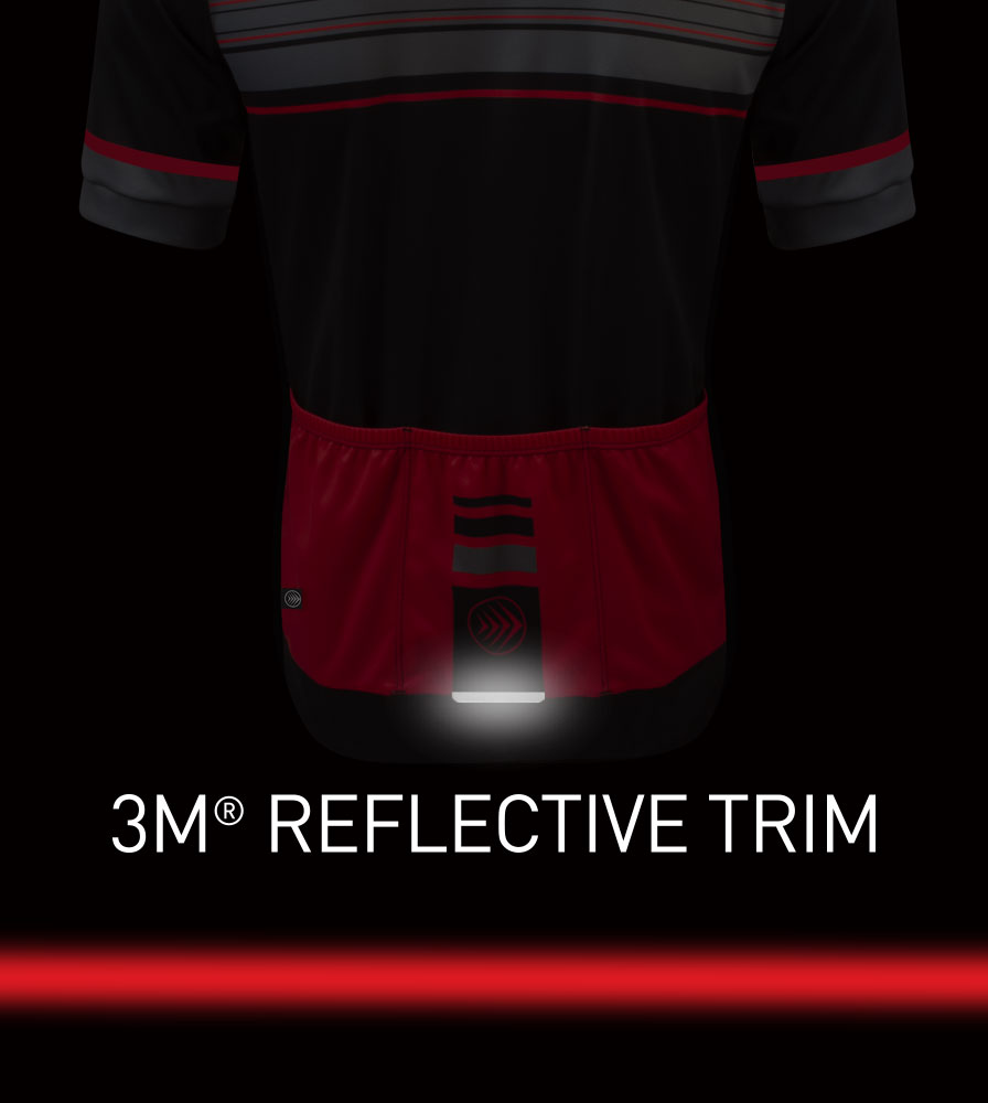 Momentum Sprint Cycling Jersey 3M Reflective Tab Detail
