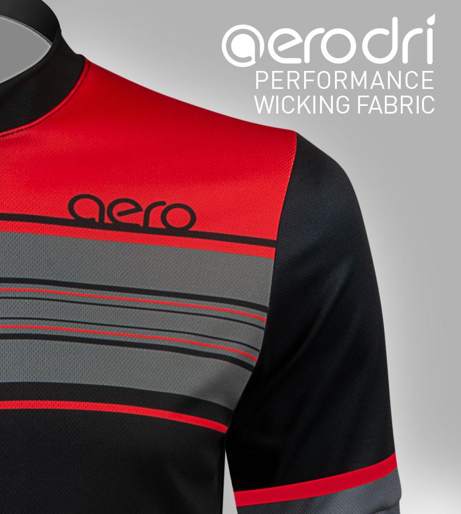Momentum Sprint Cycling Jersey AeroDri Performance Polyester Fabric