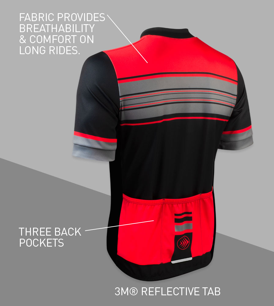 Momentum Sprint Cycling Jersey Back Features
