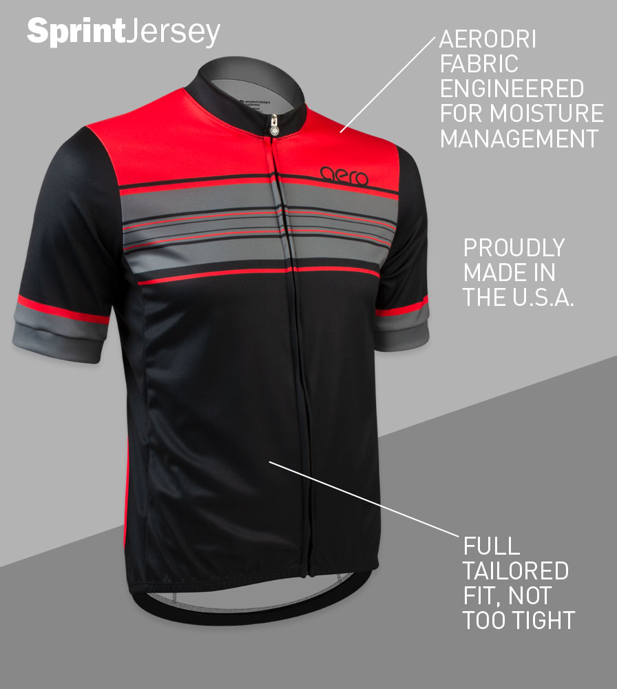 Momentum Sprint Cycling Jersey Front Features
