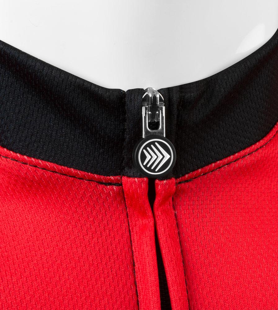 Momentum Sprint Cycling Jersey Zipper Pull Detail