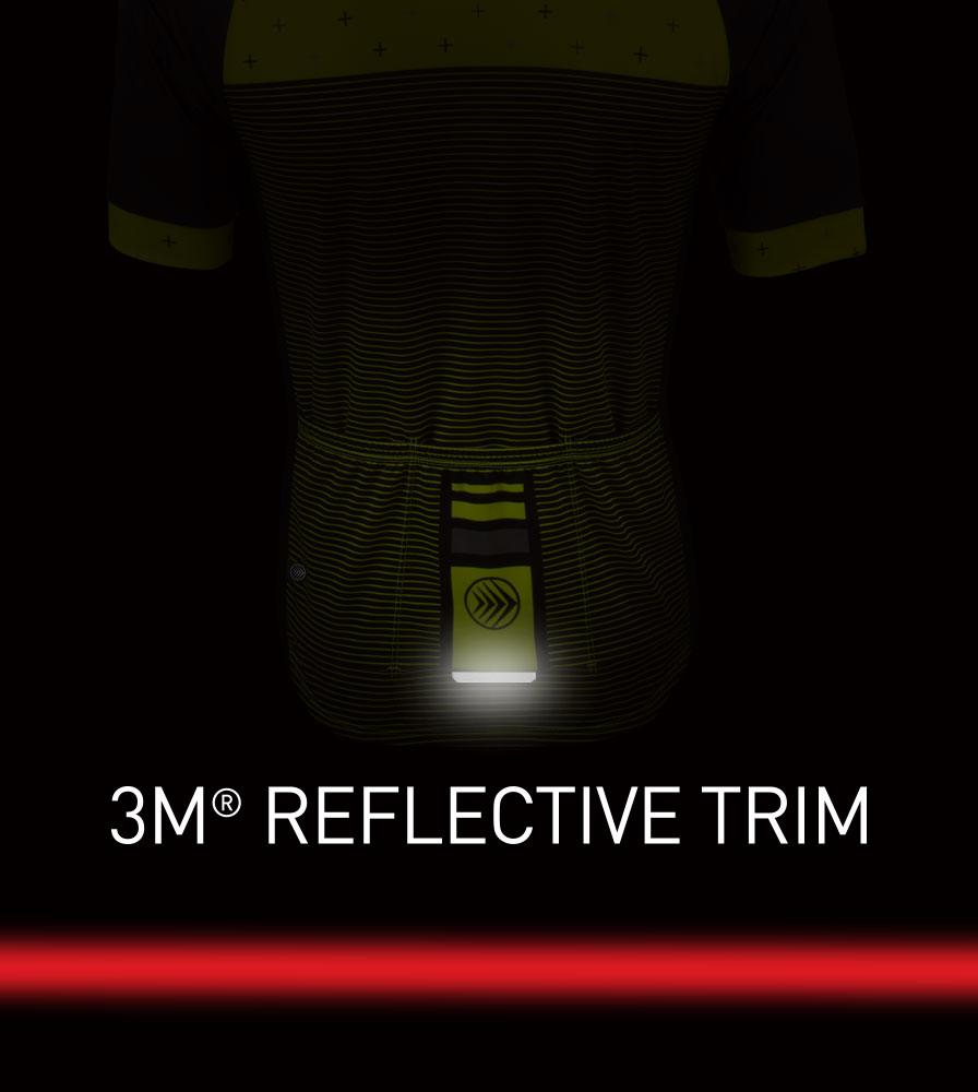 Men's Reaction Peloton Cycling Jersey 3M Reflective Trim