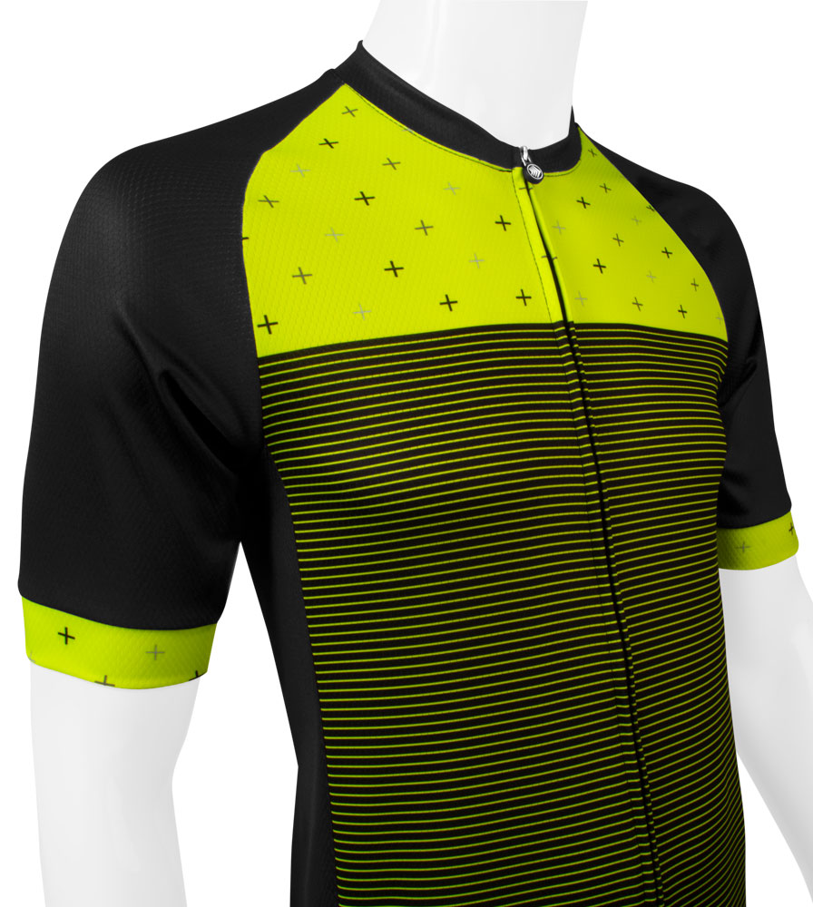 Men's Reaction Peloton Cycling Jersey Off Front View