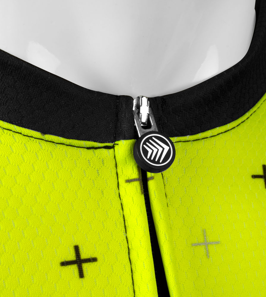 Men's Reaction Peloton Cycling Jersey Zipper Pull Detail