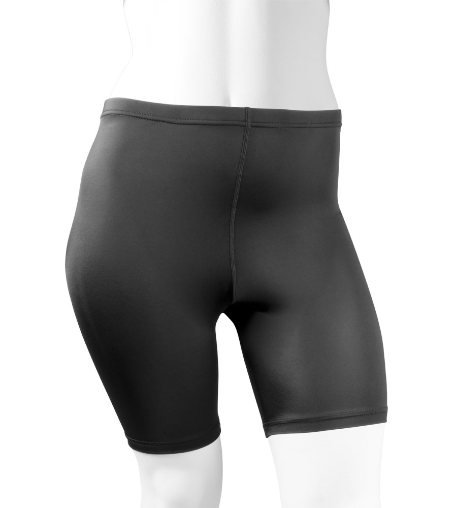 Plus Women's Compression Shorts in Black Front View