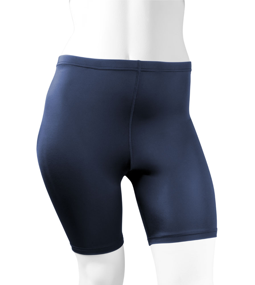 Plus Women's Compression Shorts in Navy Blue Front View