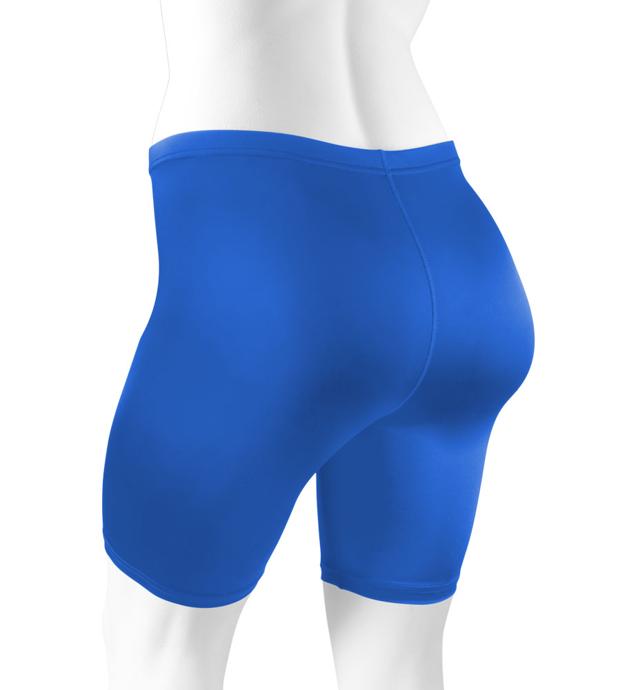 Plus Women's Compression Shorts in Royal Blue Back View