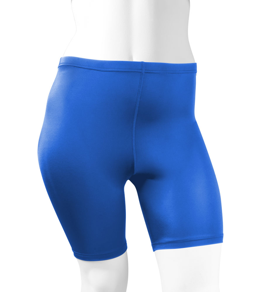 Plus Women's Compression Shorts in Royal Blue Front View