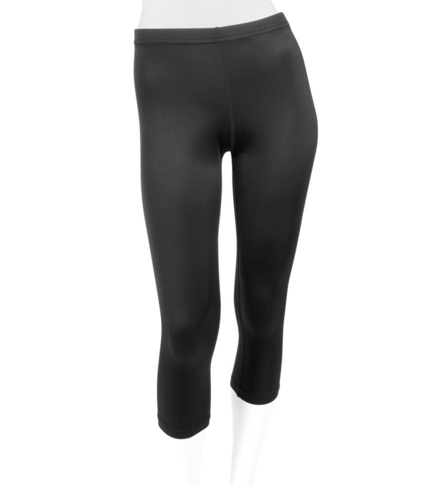 Women's Spandex Unpadded Workout Capri in Black