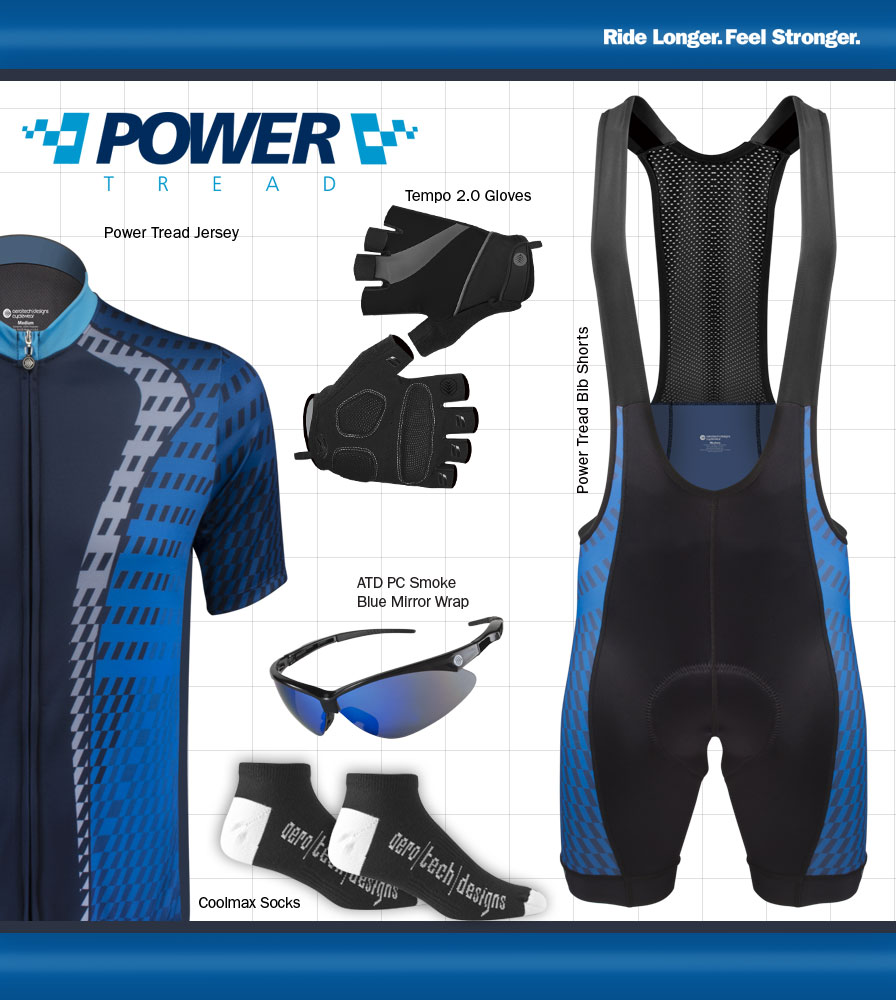 Power Tread Bib Shorts Cycling Kit