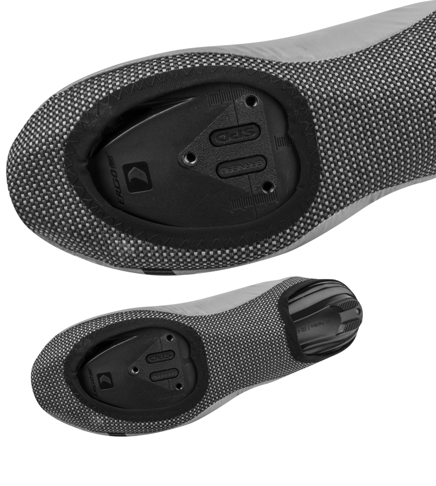 Pedal Openings on the Reflective Cycling Shoe Covers
