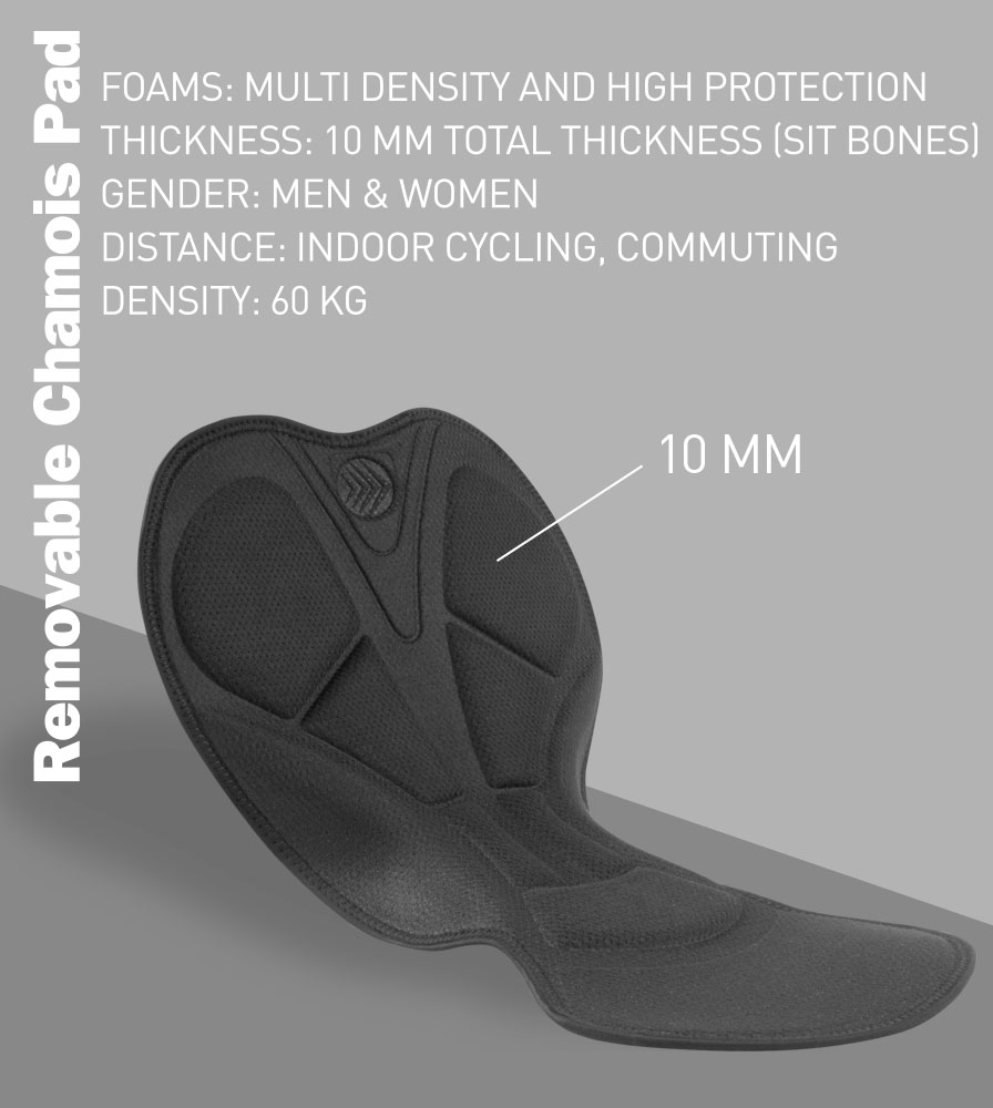 Removable Chamois Pad Features and Specifications