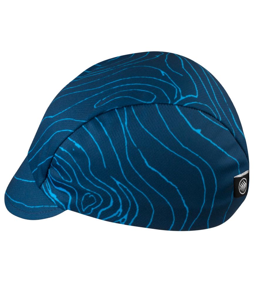 Blue Topo Rush Cycling Cap